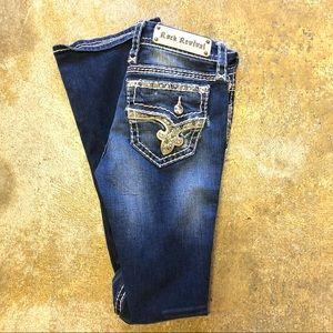 Rock Revival Jeans 27 Janelle Boot Cut Size 4